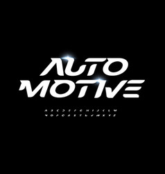 Automotive alphabet letter font modern logo vector