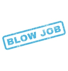 Blow Job Rubber Stamp vector image