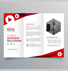 business trifold business brochure template vector image