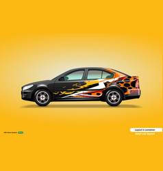 Car decal wrap design with abstract color theme vector