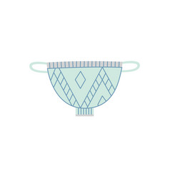 ceramic handled dining bowl or soup tureen flat vector image