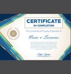 Certificate or diploma modern design template 6302 vector