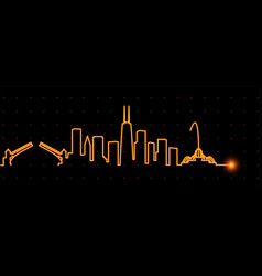 chicago light streak skyline vector image