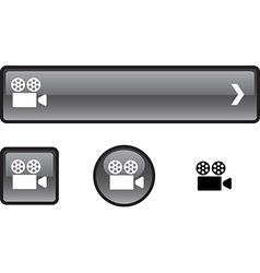 Cinema button set vector image
