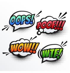 comic text sound effect pop art vector image