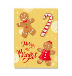 Cookies smiling gingerbread man pastry vector