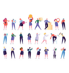 creative different professional character set vector image