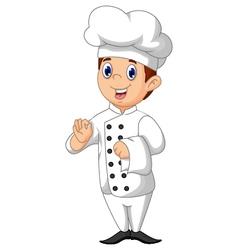 Cute chef cartoon vector