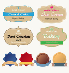discount sticker set advertising sale banner vector image