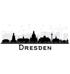 dresden germany city skyline silhouette vector image