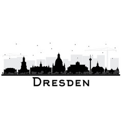 dresden germany city skyline silhouette with vector image