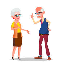 elderly couple modern grandparents old vector image