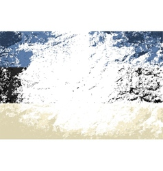 Estonian flag Grunge background vector image