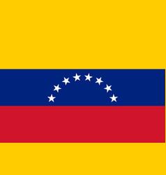 Flag in colors of venezuela image vector