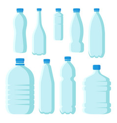 flat set of small and large plastic bottles vector image