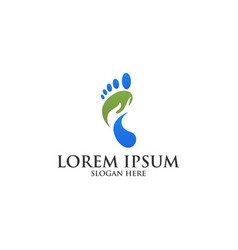 Foot care logo template vector