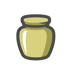 Funereal urn burial icon cartoon vector