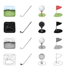 golf field sports and other web icon in cartoon vector image