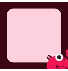 Greeting card with a funny pink bird vector