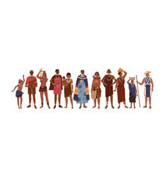 group happy aboriginal or indigenous people vector image