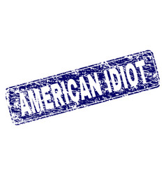 Grunge american idiot framed rounded rectangle vector