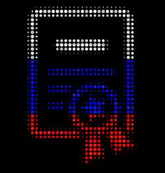 Halftone russian certificate icon vector