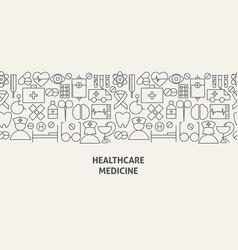 Healthcare medicine banner concept vector
