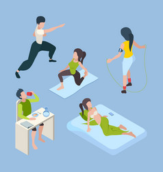 healthy activities daily lifestyle successful vector image