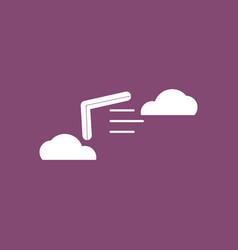 Icon boomerang in the sky vector