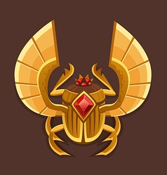 Icon golden scarab vector
