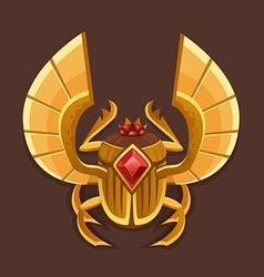 Icon golden scarab vector image