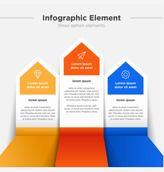 Infographic element three option elements vector