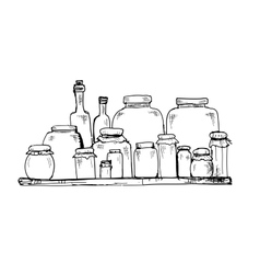 Jars and bottles vector image