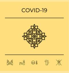 Logo geometric oriental arabic pattern element vector