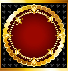 Luxurious gold frame vector image