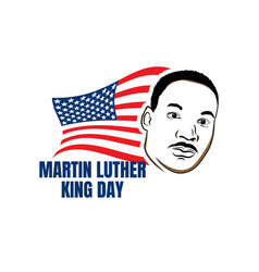 Martin luther king day greeting card - american vector
