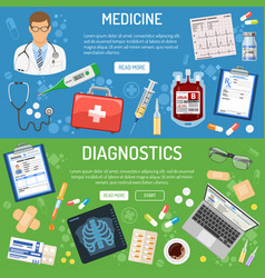 Medical banner and infographics vector