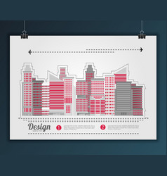 Modern city landscape flat vector