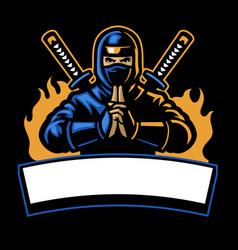 Ninja shinobi sport mascot vector