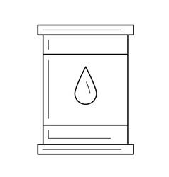 oil barrel line icon vector image