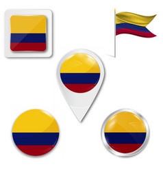 Original and simple colombia flag isolated vector