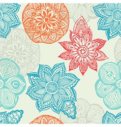 Ornate flowers seamless background Copy that vector