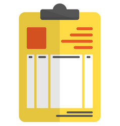Patient medical card report icon on white vector