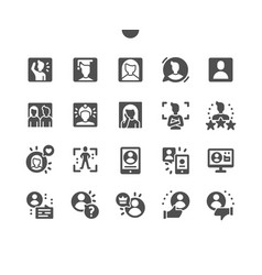 people avatars social user character face vector image