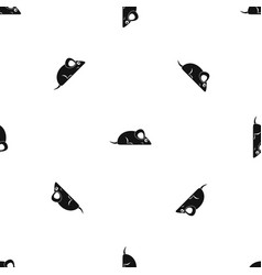 pet mouse pattern seamless black vector image