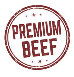 premium beef sign or stamp vector image