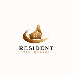 Real estate logo template isolated in white vector