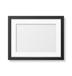 Realistic black frame A4 vector image