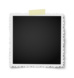 Retro realistic square photo frame vector