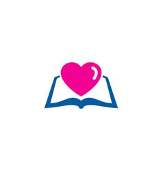 romantic book logo icon design vector image